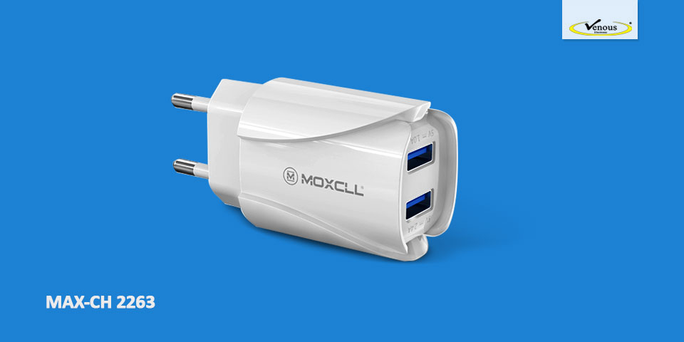 شارژر دیواری MOXCELL مدل T02 همراه با کابل MicroUSB