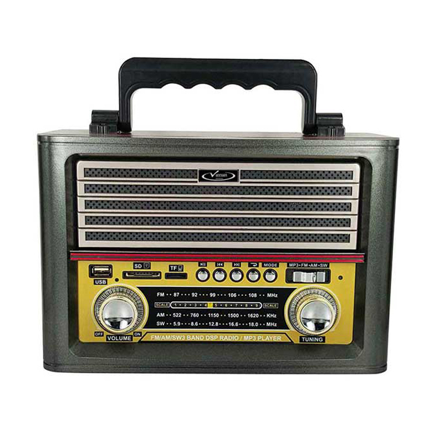 رادیو اسپیکر بلوتوثی قابل حمل Vanmaax مدل MAX-SB-2030 طرح قدیم، نوک مدادی