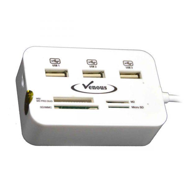 هاب 3 پورت ونوس مدل USB 2.0 3 Port HUB Venous PV-HR-195