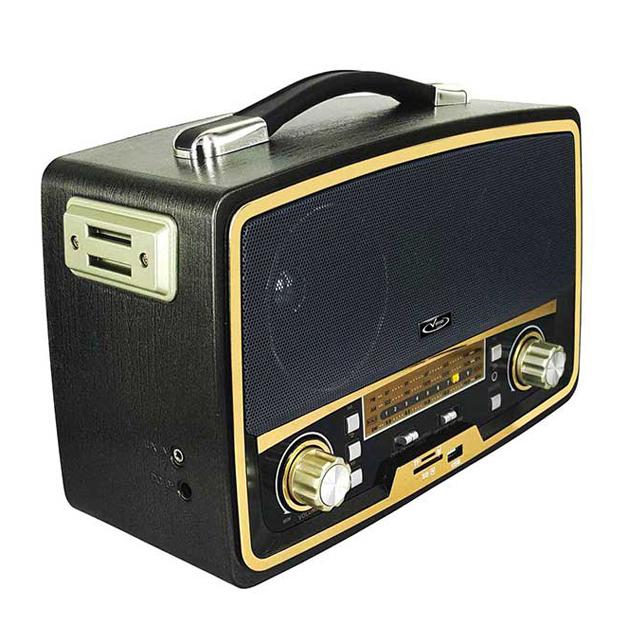 رادیو اسپیکر بلوتوثی قابل حمل Vanmaax مدل SB-2028 طرح قدیم، مشکی