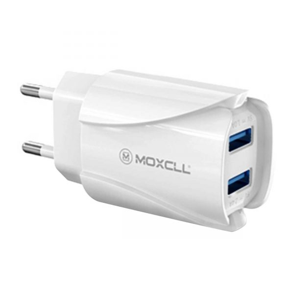 شارژر دیواری MOXCLL مدل T02 همراه با کابل MicroUSB