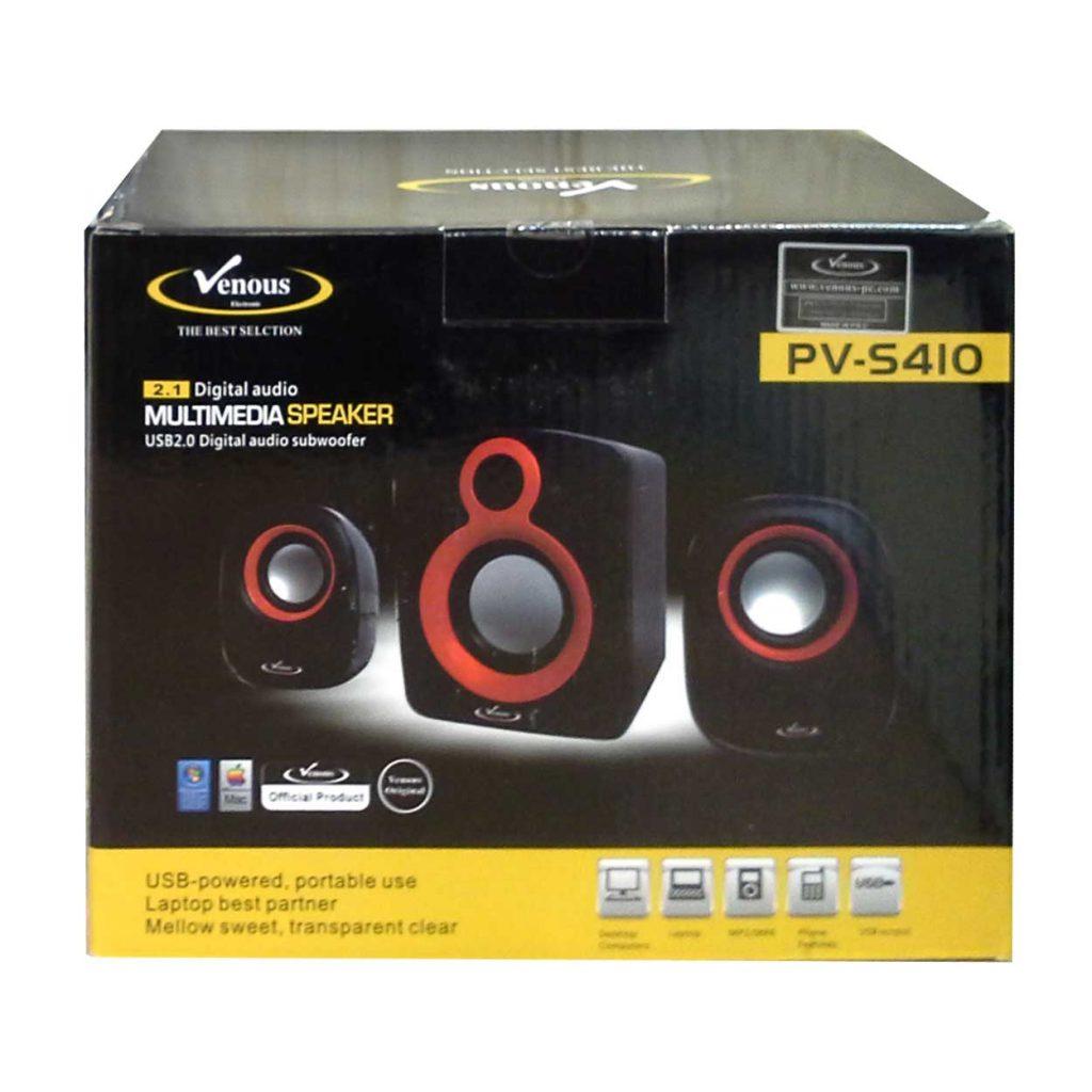 اسپیکر 3 تیکه لپ تاپی، رم و فلش خور بلوتوثی ونوس مدل PV-S 410