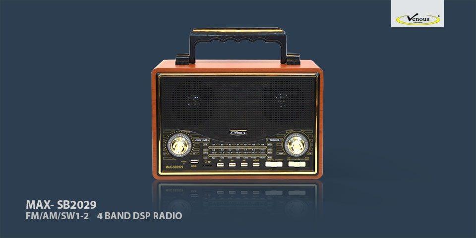 رادیو اسپیکر بلوتوثی Vanmaax مدل MAX-SB2029 مشکی