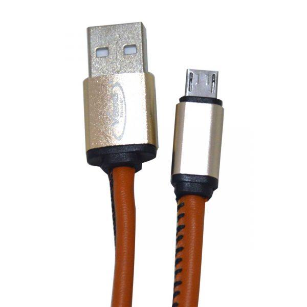 کابل شارژ و انتقال دیتا USB2 طرح چرم ونوس مدل PV-K354