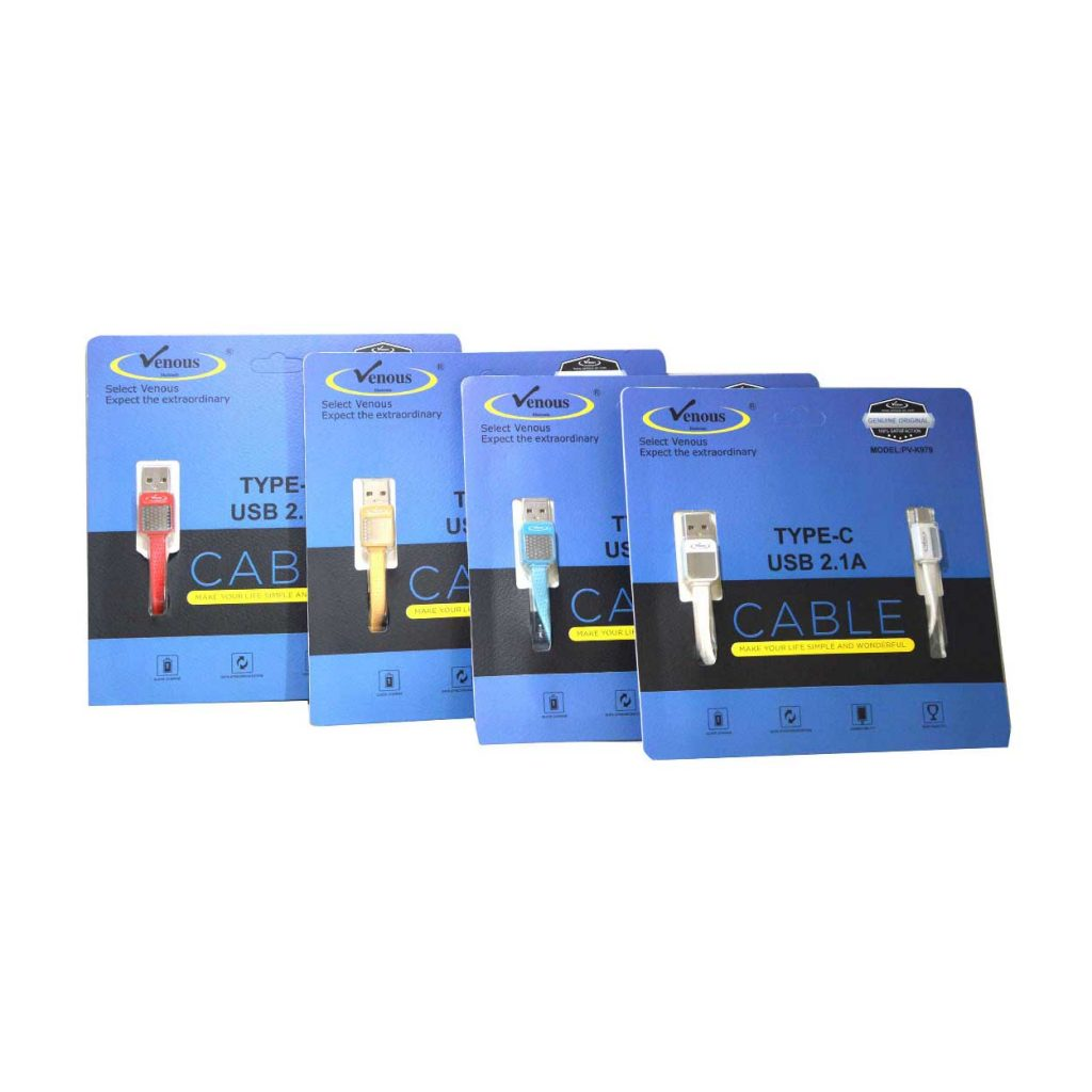 کابل شارژ TYPE-C USB2.1A ونوس مدل PV-C979